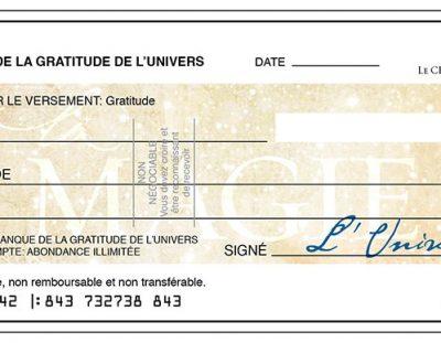 Quand et comment rédiger un chèque d'abondance ?